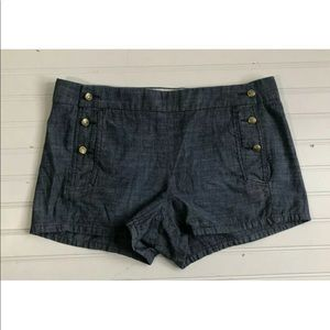 J Crew Nautical Lightweight Jean Shorts Womens 8